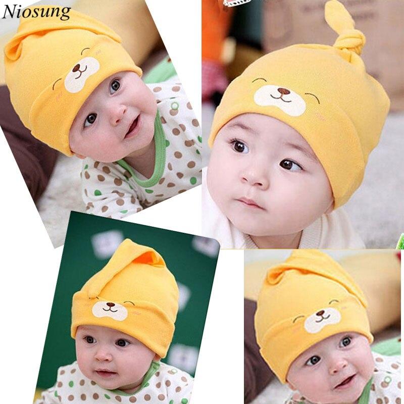 Niosung New Cotton Child Baby Newborn Sleep Hat Cap Kit Lens Cotton Cap All Season Baby Beanie Warm Sleep Toddler Cap