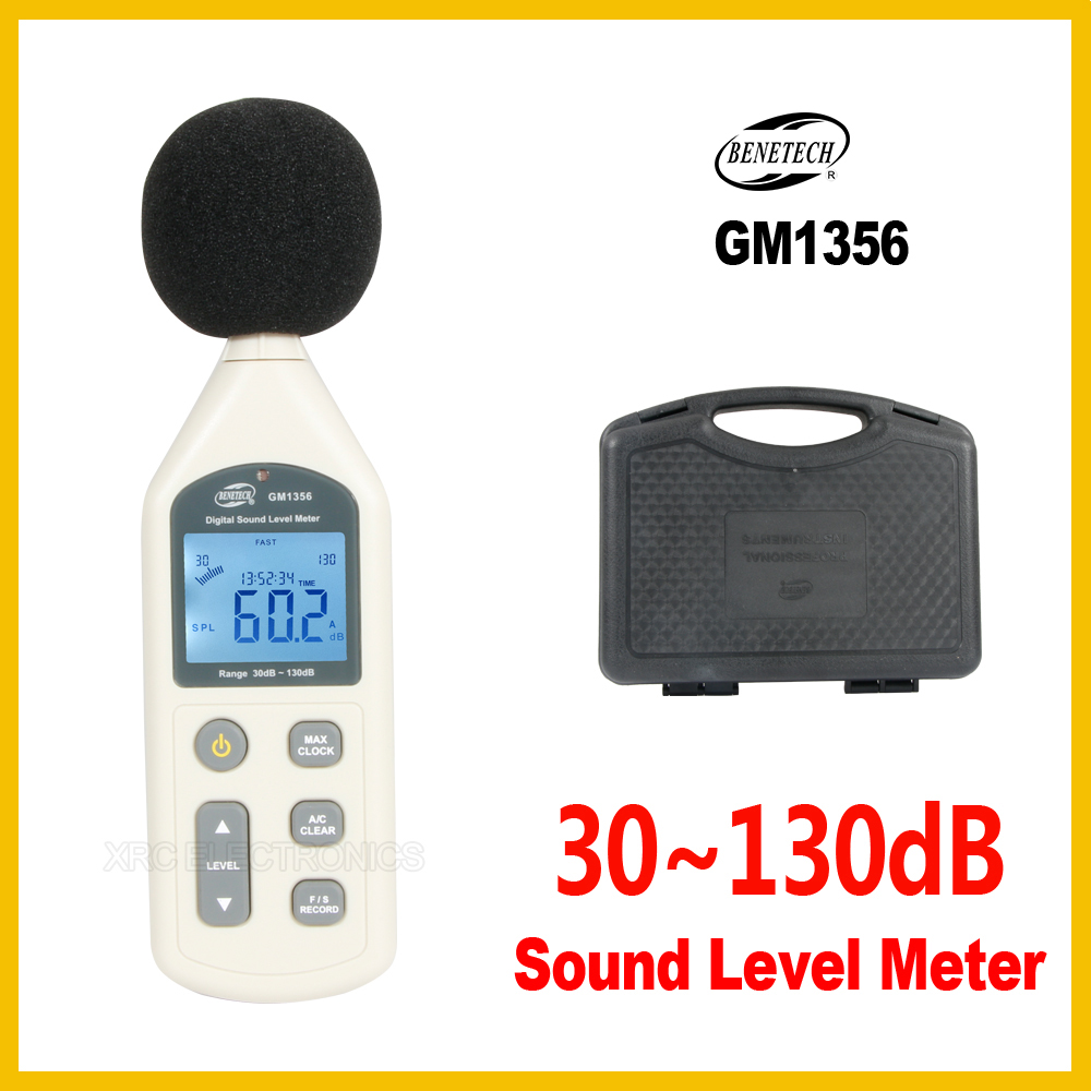 Digital Sound Level Meter USB Noise Tester Meter  30-130dB A/C FAST/SLOW DB+ Software With Carry Box GM1356-BENETECH