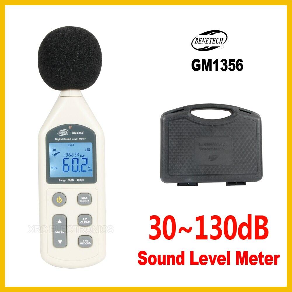 Sonomètre numérique USB testeur de bruit 30-130dB A/C rapide/lent dB + logiciel avec boîte de transport GM1356-BENETECH
