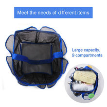 Best Hanging Mesh Shower Tote Bag Quick Dry Toiletry Organizer for Travel Gym Camping Swimming Dorm QQ99(China)
