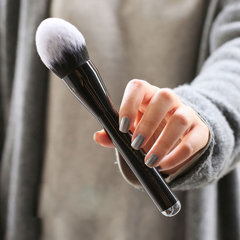 Soft Big Beauty Powder Brush Makeup Brushes Blush Foundation Round Make Up Large Flame Brushes Cosmetic Tool very big beauty powder brush blush foundation round make up tool large cosmetics aluminum brushes soft face makeup free shipping