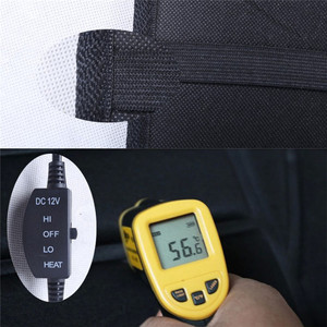 Image 4 - Universal 12V Heated Seat Heater Soft Thickening Car Seat Cushion Warmer Car Seat Cover with Temperature Controller Black