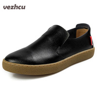 2014 New Spring Men Single Shoes Comfortable Sneakers Cow Leather Fashion Foot Dawdler Wrapping Shoes Genuine