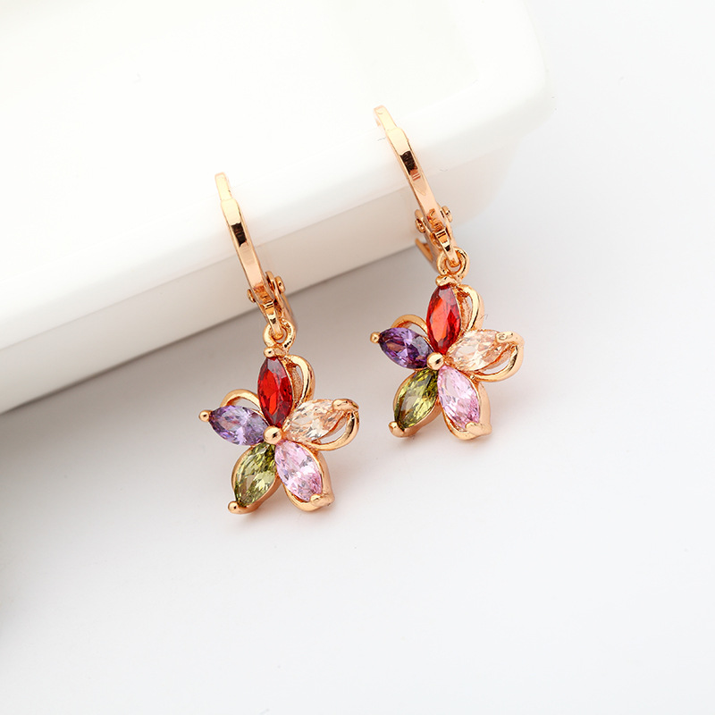 Aliexpress Com Buy Danki Brand New Jewelry Women Fashion Earrings Wedding Party Female Stylish Rose Gold Plated Clip Earrings Crystal Accessory From