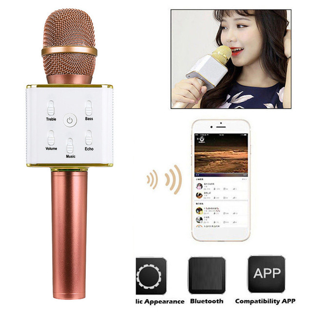 Drop shippingSimplestone Q7 Wireless Bluetooth Handheld KTV Karaoke Microphone Mic Speaker For Phone Nov19 mosunx