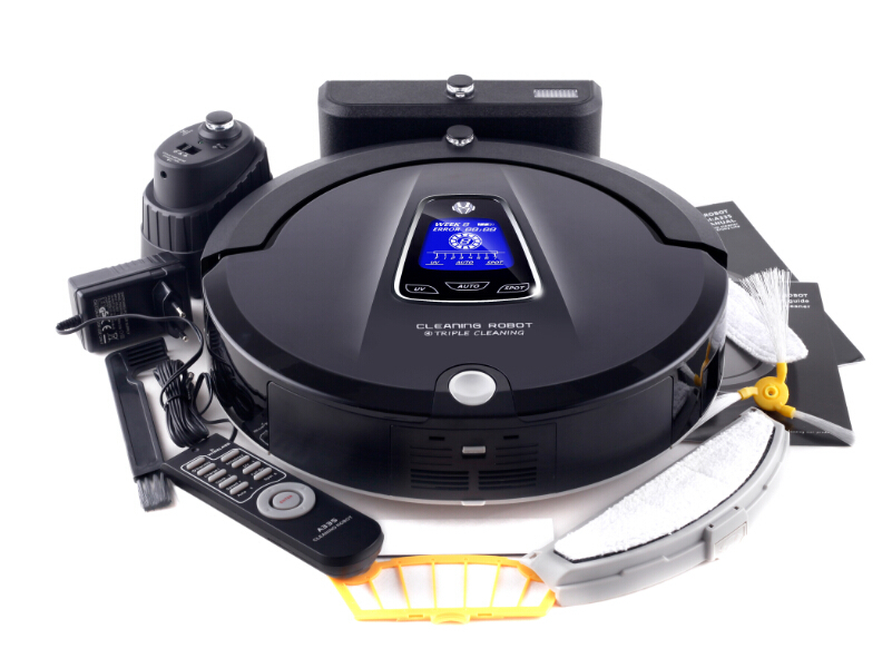 Multifunction Robot Vacuum Cleaner A335 LCD Touch Screen,Schedule,2Way VirtualWall,Self Charge (Sweep,Vacuum,Mop,Sterilize) liectroux robot floor cleaner multifunction sweep vacuum mop sterilize touch screen schedule side brush autorecharge virtual