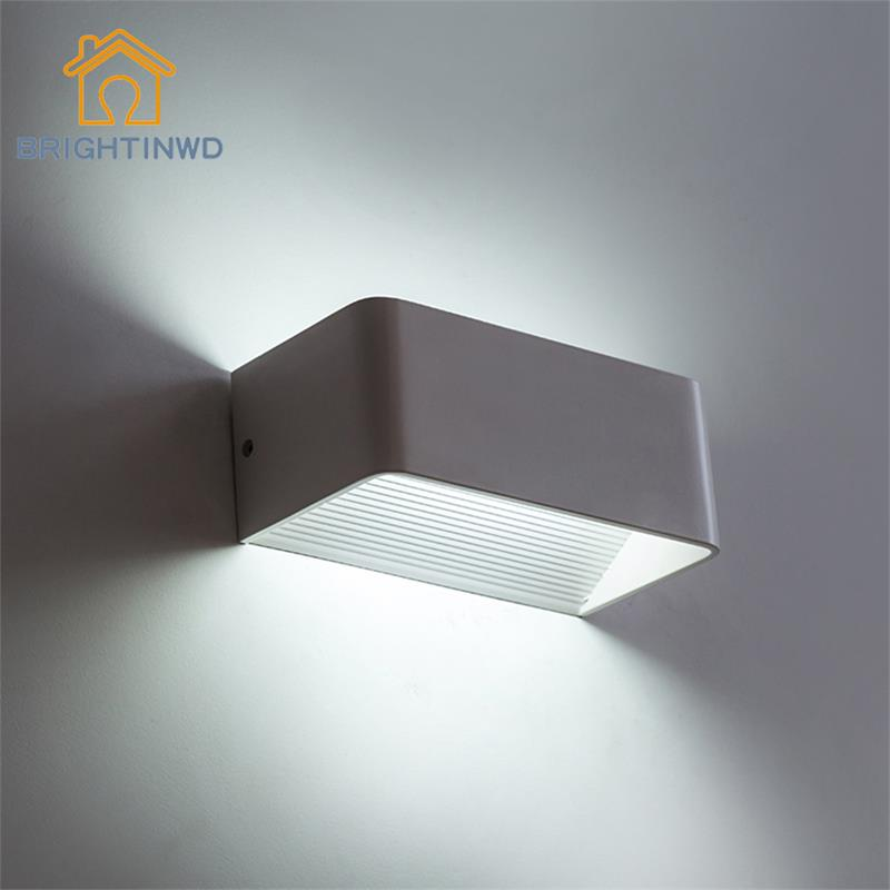 3W/6W LED Sconce Wall Lamp Surface Mounted Outdoor Modern Cube LED Wall Light Aluminum Up and Down Wall Lamp for Bedroom Home 10pcs lot 10w led indoor wall lamp surface mounted outdoor cube lamparas de pared white up and down wall light for home lamp