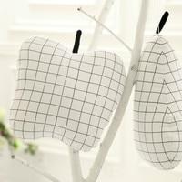 Office Sofa Cushion Classic Black And White Lattice Cactus Pineapple Child Comfort Pillow