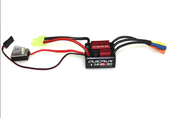 F17871/3 Hobbywing QUICRUN WP16BL30/ WP10BL60/ WP8BL150 Speed Controller 30A /60A /150A 2-6S Lipo BEC Brushless ESC for RC Car 30a esc welding plug brushless electric speed control 4v 16v voltage