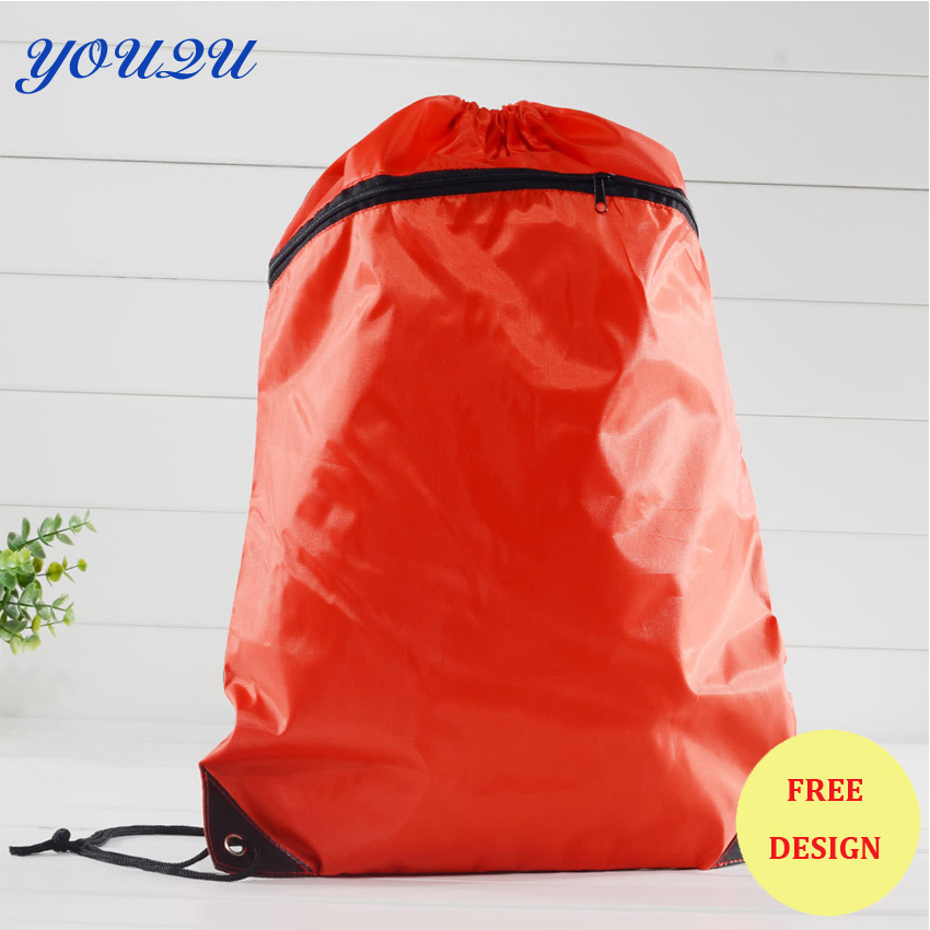 Drawstring Bag With Zipper Polyester Drawstring Bag With Zipper Drawstring Bag With Zipper Pocket
