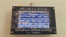 """UV + HF Mini1300 4.3 """"터치 LCD 0.1 1300MHz 13.GHz HF/VHF/UHF ANT SWR 안테나 분석기 + 충전식 배터리"""