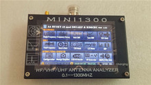 "UV + HF Mini1300 4.3"" Touch LCD 0.1 1300MHz 13.GHz HF/VHF/UHF ANT SWR Antenna Analyzer Meter + Rechargeable batery"