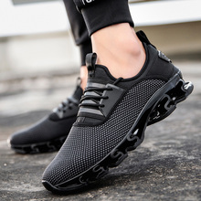 Mens Sport Sneakers Summer for Men Breathable Trainers Shoes Big Size 39-47 Running Male