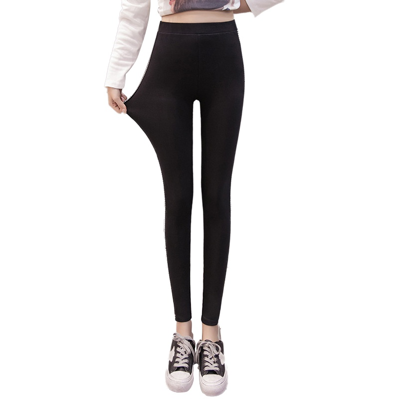 2018 Women Lady Activewear High Elastic Slim Black/Dark Gray Legging Autumn Pant High Waist Leggins Femael Plus Size 4XL 1