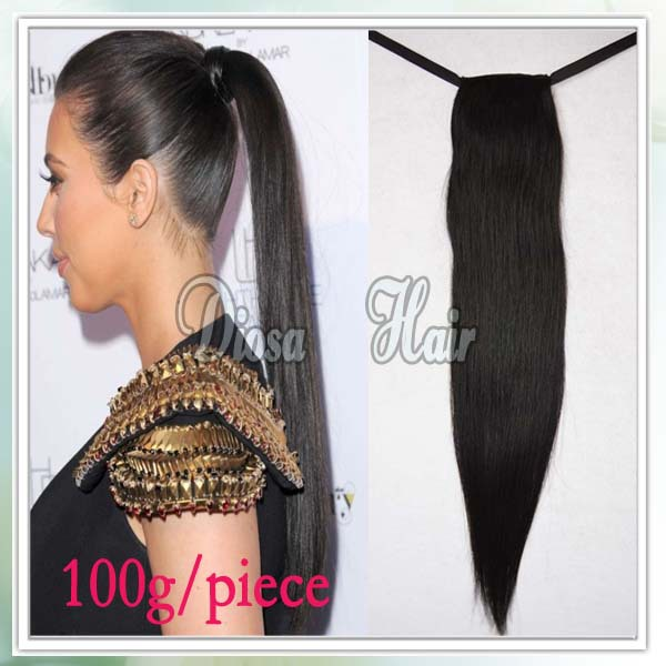 7a straight human hair drawstring ponytail extensions remy hair 7a straight human hair drawstring ponytail extensions remy hair virgin peruvian ponytails hair comb lace tie feature hairstyle in ponytails from hair pmusecretfo Image collections