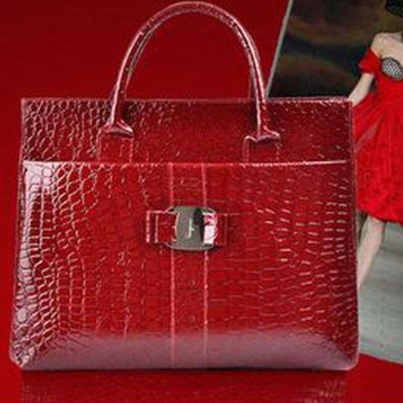 NEW Fashion PU leather Retro Pack Handbags Women Alligator Clutch Bag Messenger Shoulder Bags Women Leather Bag Promotion