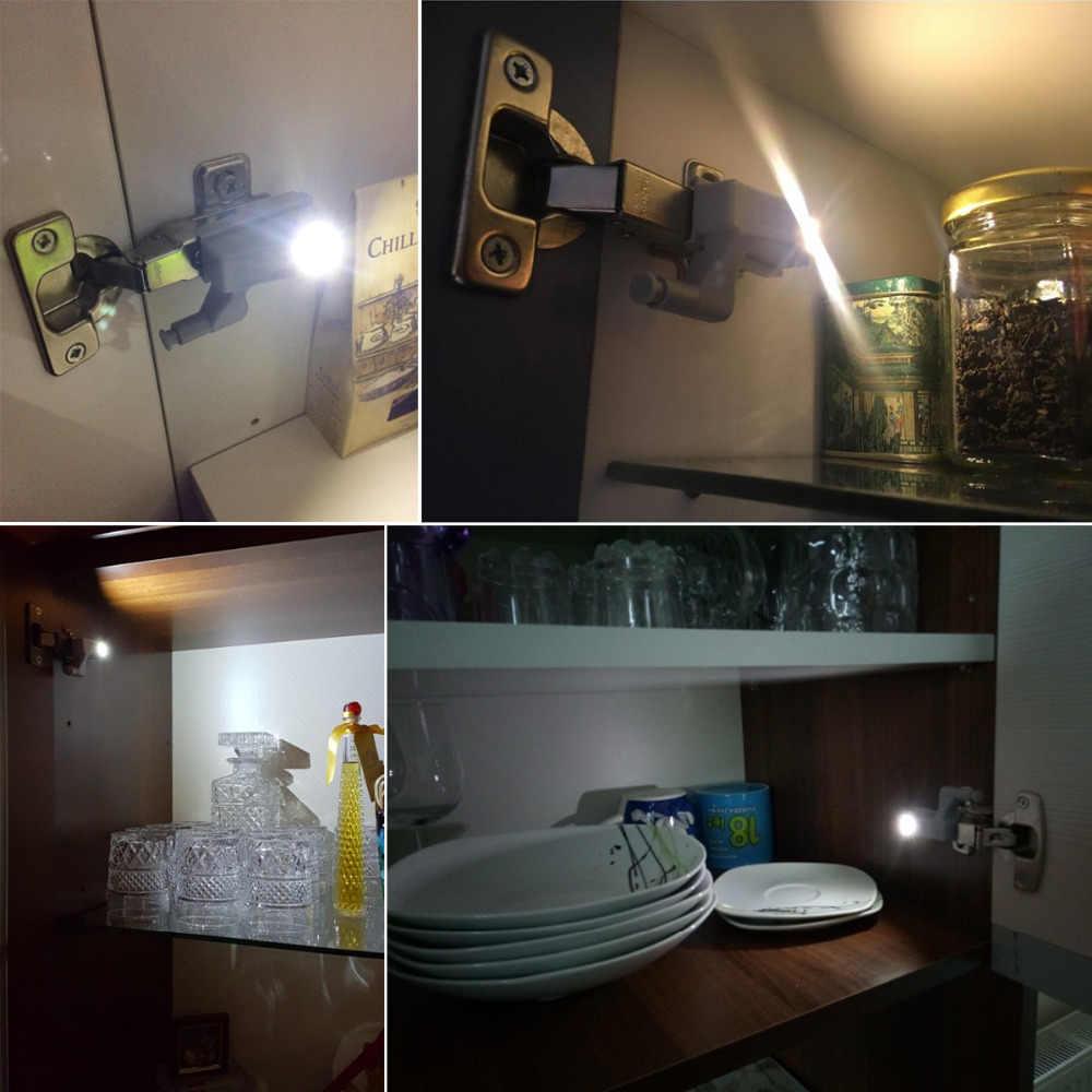 10 шт./упак. под шкаф светильник открытой двери авто светодиодный настенный светильник универсальный мебель шкаф шарнира дома светильник s