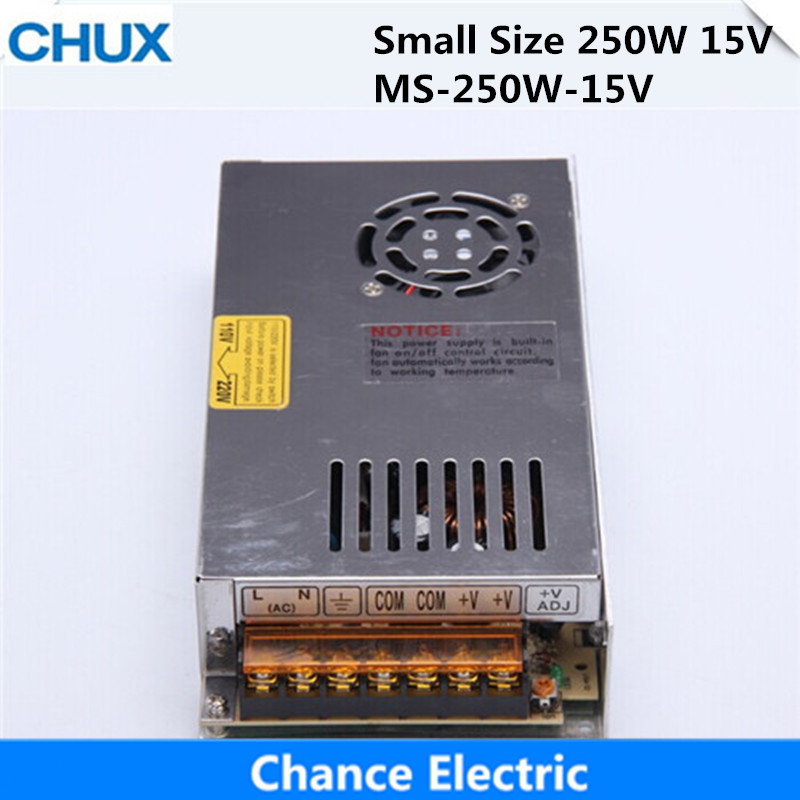 Single Output Switching Mode Power Supply Mini Size MS series (MS-250W-15V) Smaller Volume LED Power Suppliers 250W 15V 15A single output switching mode power supply mini size ms series ms 250w 15v smaller volume led power suppliers 250w 15v 15a