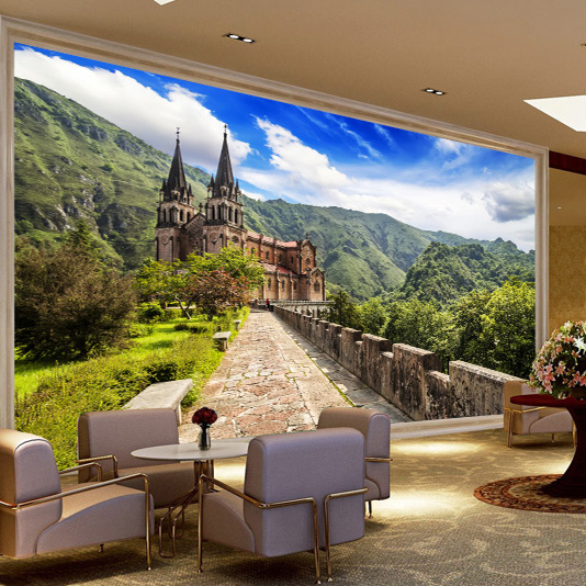 living room wall murals aliexpress buy continental stereo tv background wall 12706