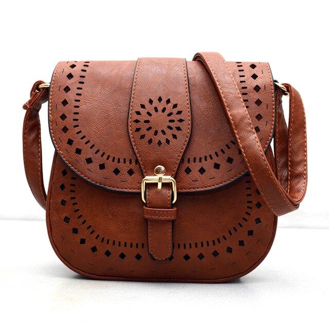 Pequenos sacos Casuais mulheres mensageiro sacos PU escavar crossbody bolsas das senhoras bolsa de ombro bolsa e bolsas bolsas feminina