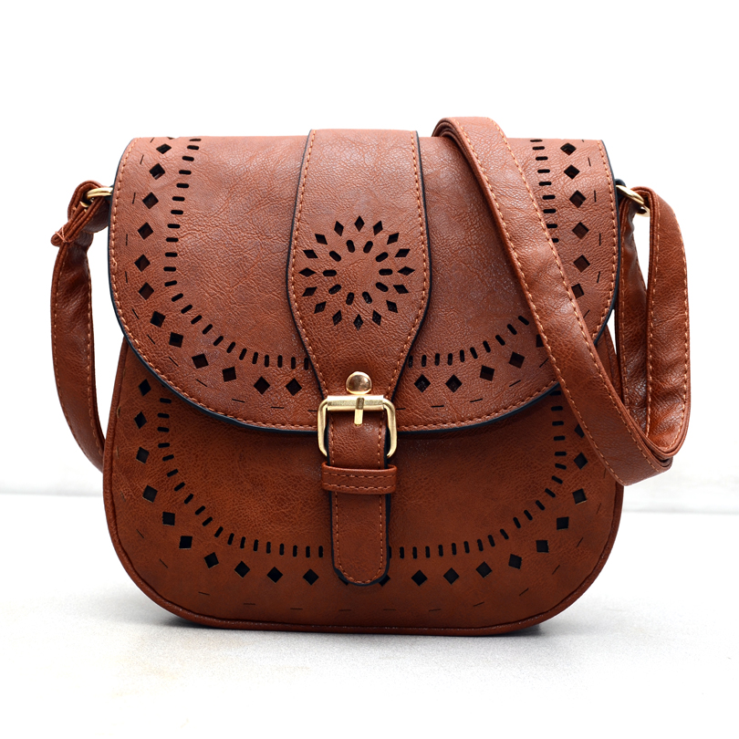 126ea02934 Small Casual women messenger bags PU hollow out crossbody bags ...