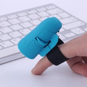 Image 3 - ユニバーサルフィンガーマウス Bluetooth ワイヤレスフィンガーリング光学式マウス 1600Dpi ハンドマウスノートパソコン用デスクトップポータブル