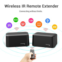 New Wireless IR Remote Extender Repeater HDMI Transmitter Receiver Kit Blaster Emitter GDeals