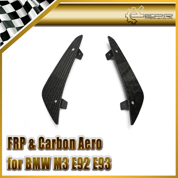 Car-styling For BMW M3 E92/ E93 Preface Model Carbon Fiber EPA Front Bumper Canard (With metal bracket) In Stock