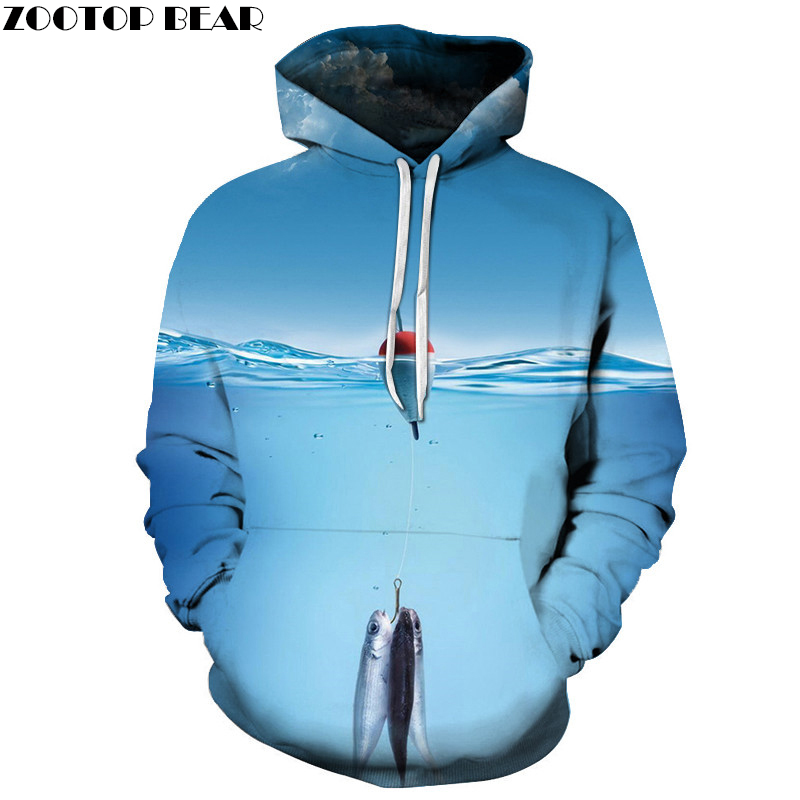 Summer Print Hoodies Male Funny 3d Anime Men Pullover Sweatshirts Women Tracksuits Drop Ship ZOOTOP BEAR Brand 2018 Blue