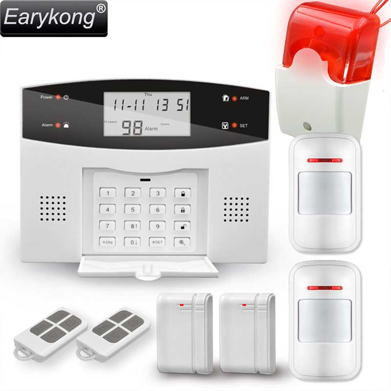 Earykong Home Burglar Security GSM Alarm System, NEW 850/900/1800/1900 Wireless Signaling, Motion Sensor, Smart Home Alarm free shipping lcd dispaly home wireless gsm alarm system 850 900 1800 1900mhz