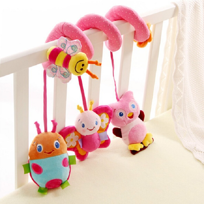 Soft Baby Music Rattle Toy Stroller Crib Car Bed Hanging Decoration Toy Ring Bell Early Educational Toy