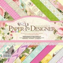 """Милый набор для скрапбукинга прекрасный 12*1"""" Лист Pad бумажный комплект наклейки Desinger дневник в стиле Скрапбукинг Декор мультфильм наклейки"""
