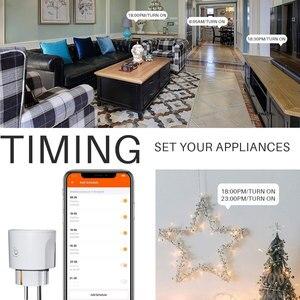 Image 5 - Prise intelligente de WiFi de prise de WiFi de lue 16A avec le contrôle dappli de synchronisation, Mini commande intelligente de voix de maison dalexa Google Compatible