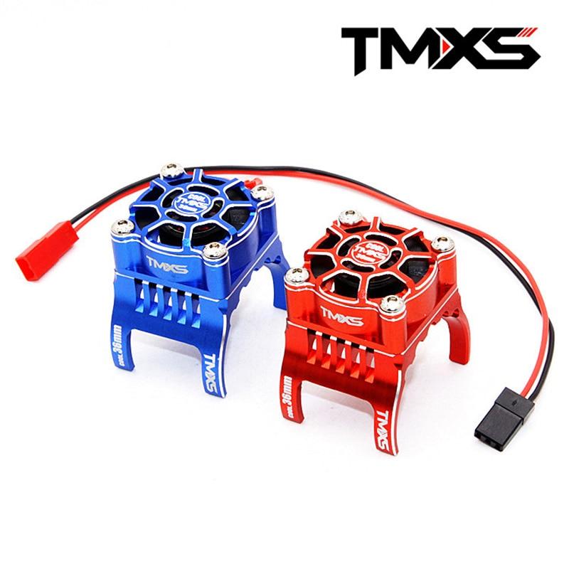 FATJAY TMXS RC 36mm étanche HV 5-12 V tout alu haute vitesse ventilateur de refroidissement double roulements à billes pour moteur sans balai RC 540 3650 3660