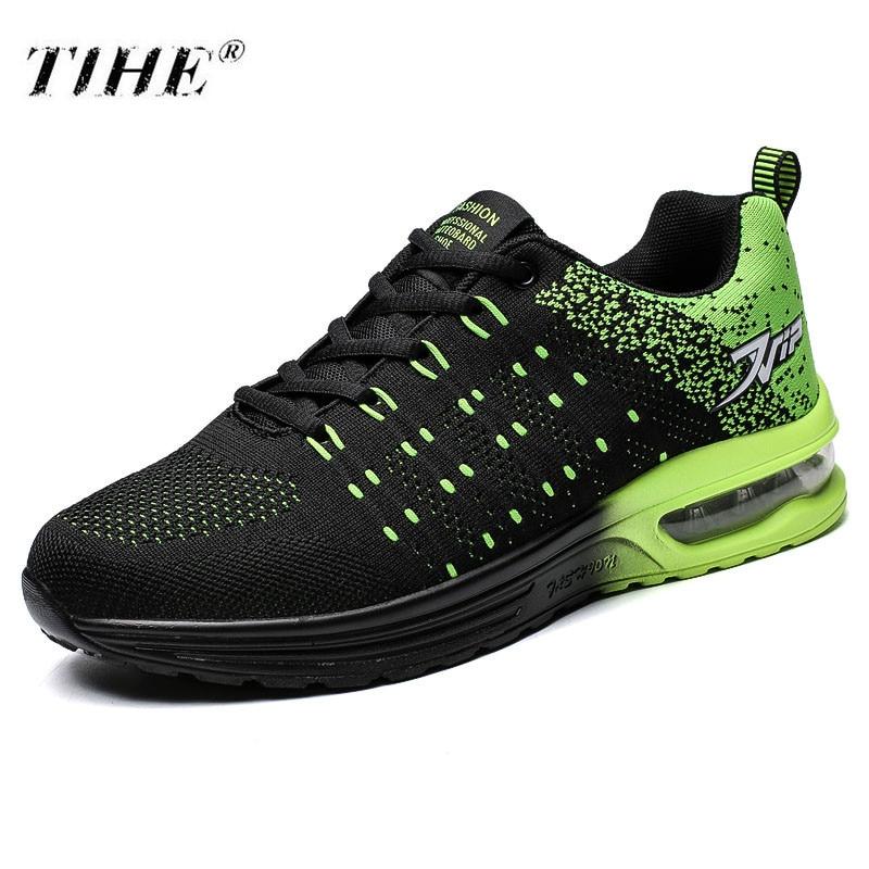 Lace Del Mesh Hombres Zapatos 2018 rojo verde Unisex Suave Negro De Gran Aire Casual 45 Amortiguador Air Tamaño Tenis Adulto up azul Masculino 40zq6