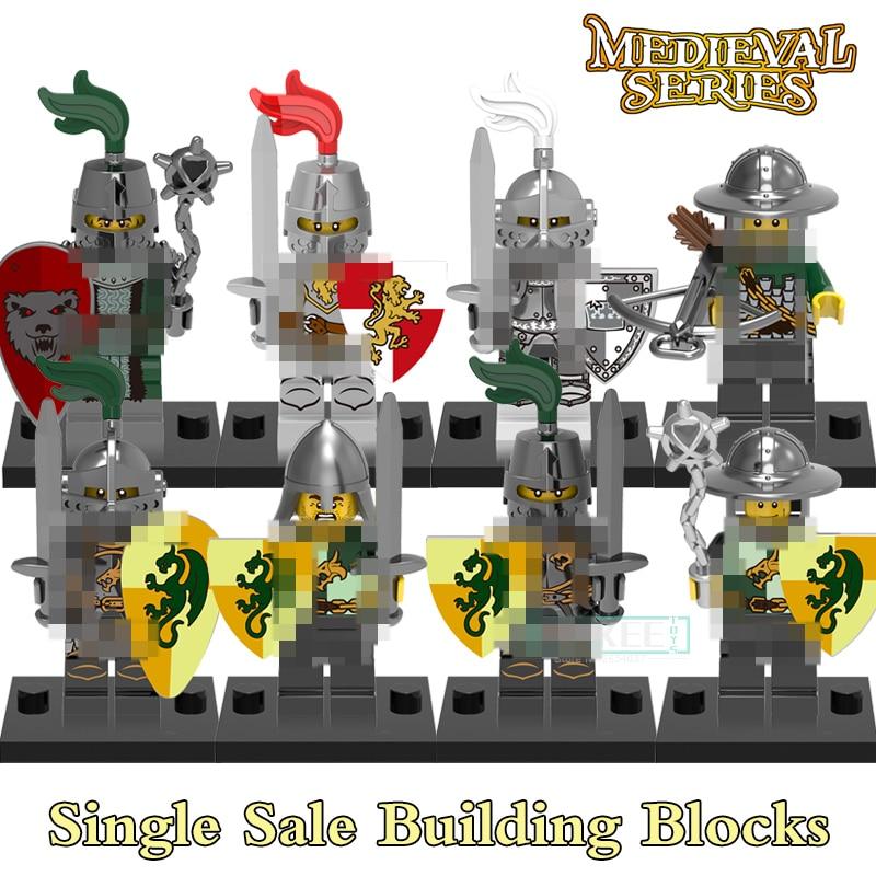 Building Blocks Medieval Knights Gladiatus Dragon Frightening Warrior X0148 Figures Super Heroes Bricks Kids DIY Toys Hobbies