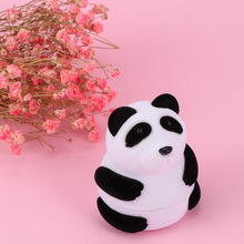 New High Quality Ring Earring Carrying Display Jewelry Box Container Storage Case Lovely Panda Animal Shape Jewelry Packaging