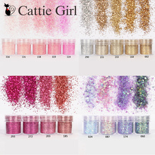 1 Box Champagne Gold Rose Nail Glitter Powder Sequins Mixed Sparkles Shiny Dust Art Decorations