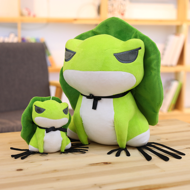 15CM Cute Travel Frog Doll Frogs With Hat Stuffed Plush Toy Gift For Kids Birthday Gift Toy For Boys