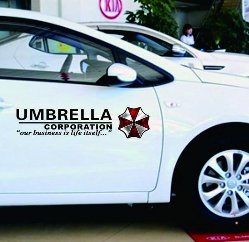 Umbrella Corporation Resident Evil Zombie Logo car stickers Vinyl Reflective Materials Creative Decoration Decal Side Door body