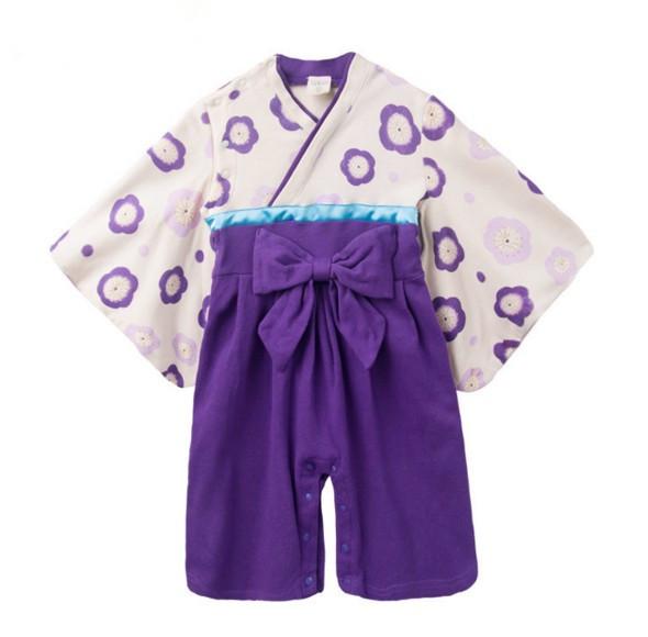Bebé de la Impresión de Algodón Kimono Japonés Lindo Mamelucos Infantil Bebes Overoles de manga Larga Bebé ropa Regalos De Halloween