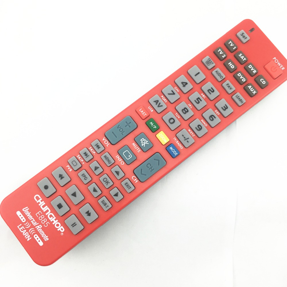 1PCS New 8 in 1 Universal Remote Control Controller For TV CBL SAT VCR DVD AMP chunghop e885 1 pc new replacement tv remote control for samsung ak59 00172a for dvd blu ray player bd f5700 without battery
