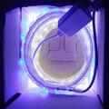 (1 m Azul + 1 m Branco)/lote, 28.8 w/lot 220 v smd 5050 led tira a luz do aquário, luz do tanque de peixes, não pode ser usado na água