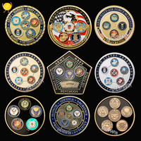 US Army,Navy,Air force,Marine corps,Coast guard challenge coin 5 armies commemorative coins military coins collectibles 9 styles