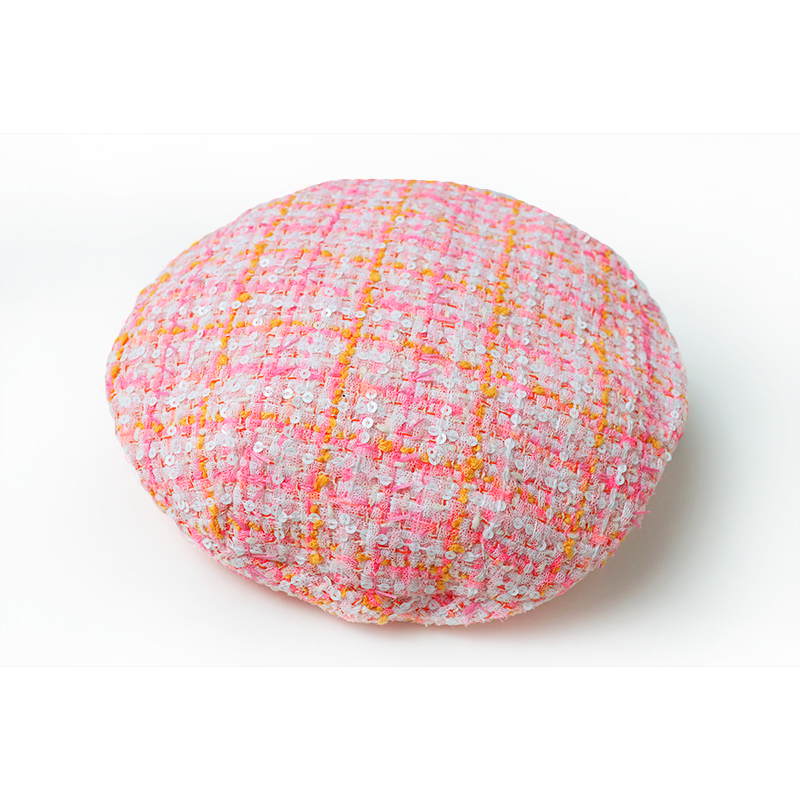 Spring Autumn Winter New Hat Dome Beret Women's Tweed Woven Plaid Classic Beret 5 Colors Jc3040