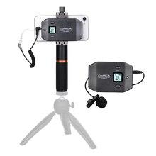 Смартфон беспроводной микрофон петличный микрофон ЖК-экран Плавная объем adjustme для IOS телефона Android встроенной телефон моллюск