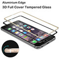 Fashion New Aluminium Edge 3D Full Cover Tempered Glass for Apple iPhone 6 6S Plus HD Screen Protector Case Protective Film