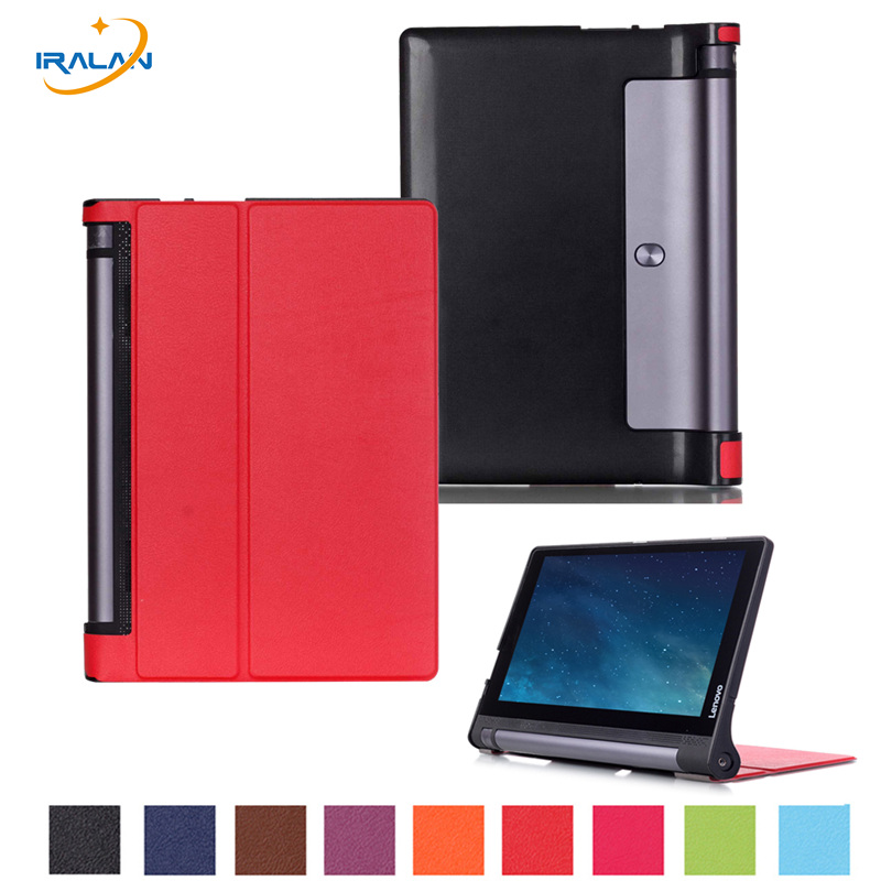 HOT YOGA Tablet 3 10 X50L X50M X50F smart case For Lenovo YOGA Tab 3 10 YT3-X50L/F/M 10.0 inch Wake up function cover+film+pen