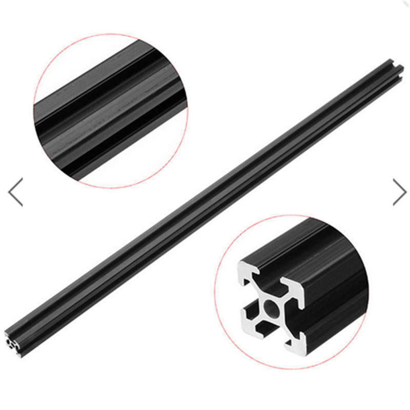 <font><b>1000mm</b></font> Length Black Anodized <font><b>2020</b></font> T-Slot Aluminum <font><b>Profiles</b></font> Extrusion Frame For CNC 3D Printers Plasma Lasers Stands Furniture image