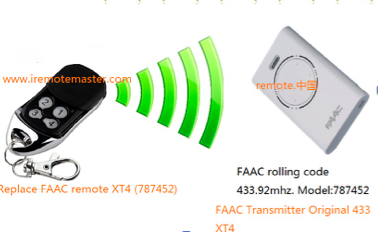 New FAAC compatible remote FAAC 787452 product code :RFAC4, Faac garage door remote